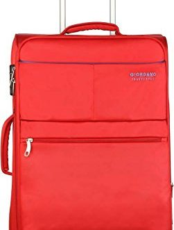 Giordano Polyester 24 cms Red Softsided Check-in Luggage (Oxford812-RD24)