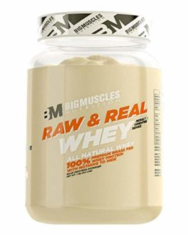 Bigmuscles Nutrition Raw & Real Organic Whey Protein [1kg] – Natural, 80% Protein, Additive Free, Unflavored, 24g Protein ,5.5g BCAA , 4g Glutamine per serving