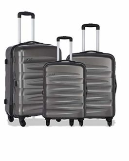 Safari Nexus 3 Pcs Hard Trolley Set 55, 65 & 77 cm (Grey)