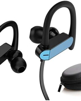 Clavier Neo in-Ear Headphones/Earphones with Stereo Mic for All Smartphones with Pouch, Blue