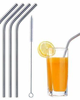 EAYIRA Reusable Stainless Steel Drinking Straws...
