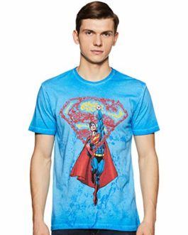 Superman by Free Authority Men's Printed Regular Fit T-Shirt [Size – S]