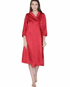 Clovia Women Satin Bridal Robe [Size...