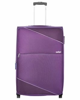 Safari Polyester 64 cms Purple Softsided Check-in Luggage (TILT652WPUR)
