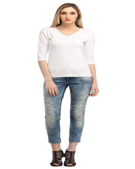 Cation Womens Plain Regular Fit Top