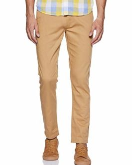 Byford By Pantaloons Men's Slim Fit Casual Trousers