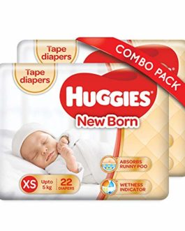 Huggies New Born Taped Diapers Combo...