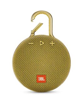 JBL Clip 3 Ultra-Portable Wireless Bluetooth Speaker with Mic (Mustard Yellow)