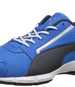 Puma Men's Triton Idp Electric Blue Lemonade, Dark Shadow and Puma White Running Shoes – 9 UK/India (43 EU)(19025705)