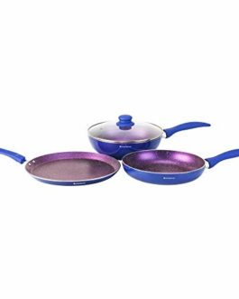 Wonderchef  Blueberry Aluminium Cookware Set – 1H,4-Pieces,Blue