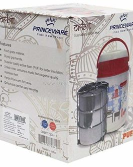 Princeware Orbit Plastic Tiffin Set, 340ml,...
