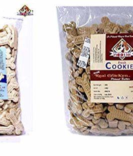 Nootie Biscuits, Milk, 1 kg and Chicken and Peanut Butter Biscuits, 1 kg