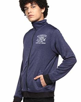 AMERICAN CREW Men's Full Sleeves Zipper...