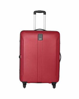 Safari Thorium Sharp Antiscratch 66 Cms Polycarbonate Red Check-In 4 wheels  Hard Suitcase