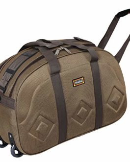 Nice Line Lightweight 40 L Polyester 2 Wheel Duffel Bag for Men and Women (Brown)
