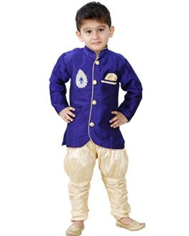 JBN Creation Boys' Maroon Cotton Silk...