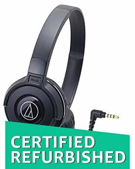 (Renewed) Audio-Technica Street Monitoring ATH-S100BK On-Ear...