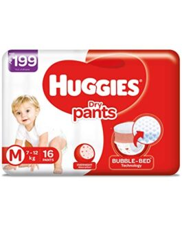 Huggies Dry Pants Medium Size Diapers (16 Count)