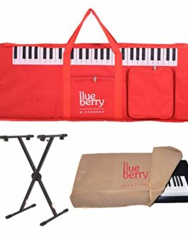 Blueberry KB41 Padded Keyboard Bag,Dust cover& Stand Compatible with Casio CTK-2550 Keyboard(RED)