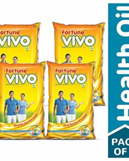 Fortune Vivo Oil, 1 L (Pack of 4)
