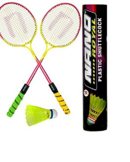 Dixon Combo Aluminum Badminton Racket Set, (Multicolor)