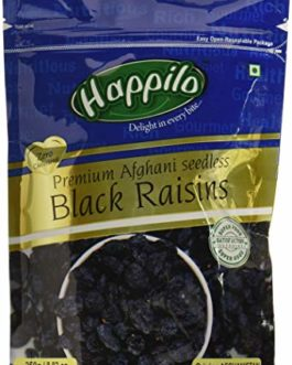 Happilo Premium Afghani Seedless Black Raisins, 250g (Pack of 2)