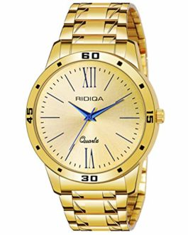 Ridiqa Golden Chain Gold Dial Luxury Watch for Men | Boy