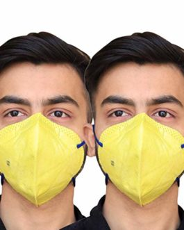 Winsome® V44+ MASK Standard comfort Disposable Pollution Elastic Mask Disposable 3 Ply Face Mask with Earloop Great for Air Pollution Virus Protection & Personal Health Face Mask (pack of 2)