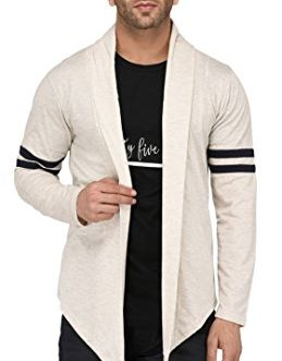DENIMHOLIC Men's Cotton Open Long Cardigan