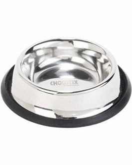 Choostix Dog and Cat Feeding Steel Bowl, Small, 225 ml