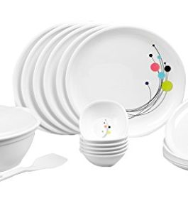 Signoraware Design-6 Round Dinner Set, 21-Pieces,...