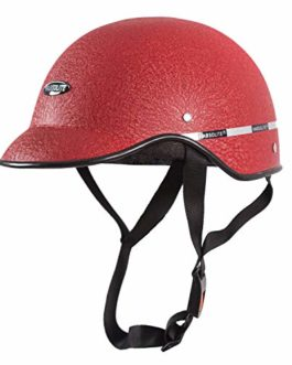 Habsolite HB-MWR Mini Wrinkle All Purpose Safety Helmet with Quick Release Strap for Men & Women (Red, Free Size)
