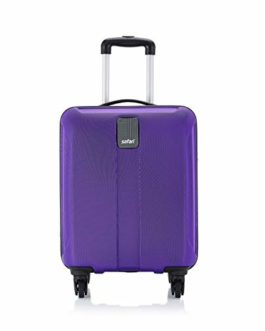 Safari Thorium Sharp Antiscratch 55 Cms Polycarbonate New Purple Cabin 4 wheels  Hard Suitcase