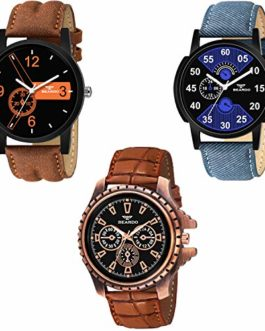 Beardo Pack of 3 Multicolour Analog Qurtz Watch for Men and Boys
