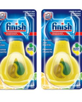 Finish Dishwasher Freshener Lemon 60's New Pack Of 2