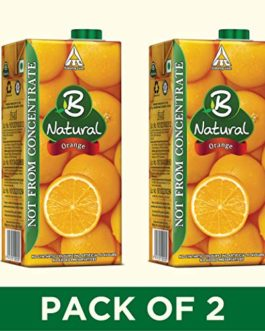 B Natural Orange Juice 1L, (Pack...