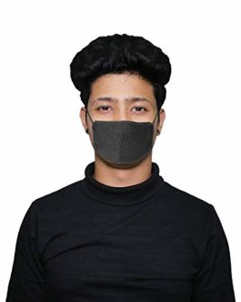 AllExtreme EXAPM2T Anti Pollution Over the Ear Mask Adult Air Filter Face Mask Anti fog, Haze, Dust, Smoke Allergy Mask for Men Women (Color may Vary, 1 PC)