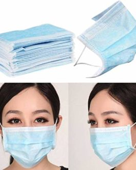 Disposable Air Pollution & Protection Mask Face Mask Nose Mask Dust Mask with tie (100)