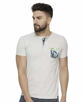 Veirdo Men's Half Sleeve Henly Neck...